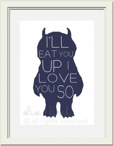 etsy - where the wild things are