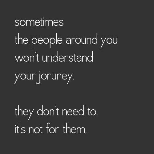 not your journey