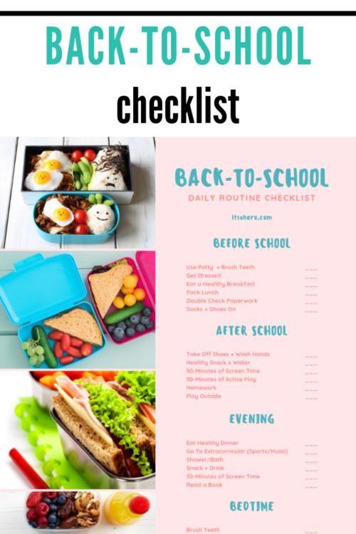 Back-to-School Checklist - PIN ME