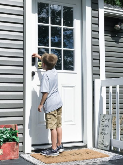 Kid using keyless entry