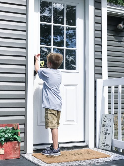 kid using home security system
