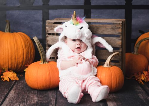 baby in unicorn costume