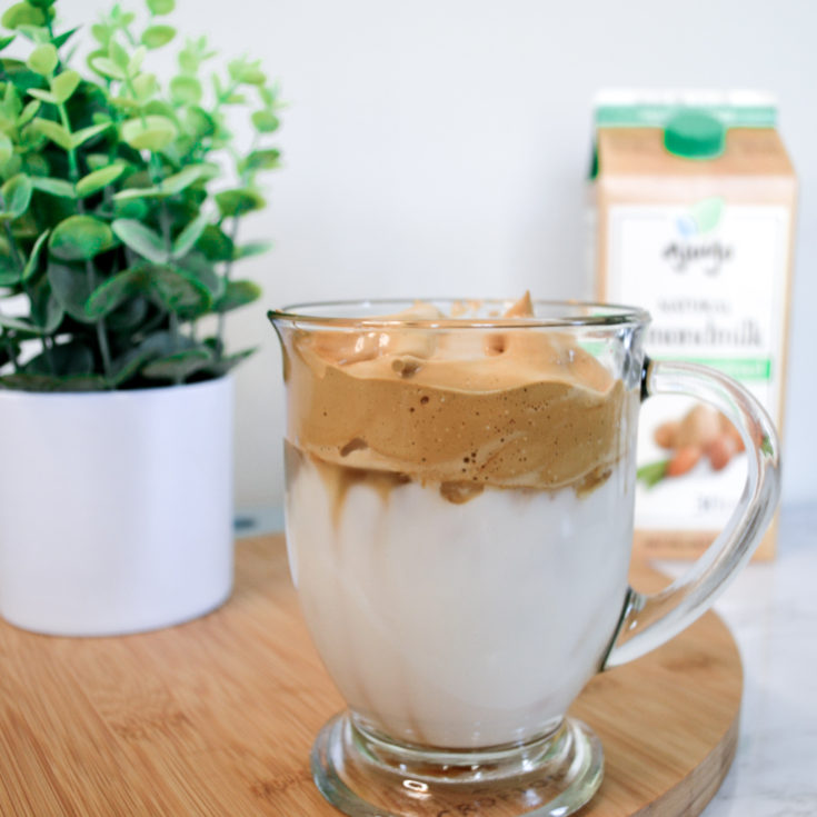 whipped coffee with Ajoyo Almond Milk