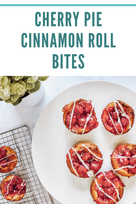 PIN ME - Cherry Pie Cinnamon Roll Bites