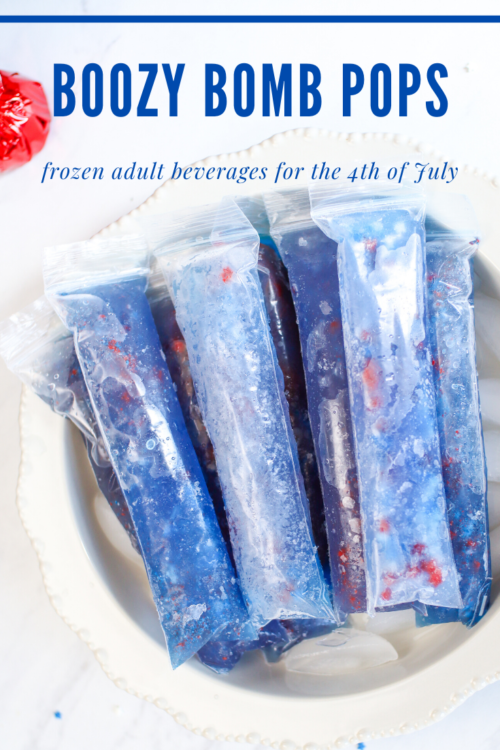 PIN ME - Boozy 4th of July Bomb Pops Popsicles