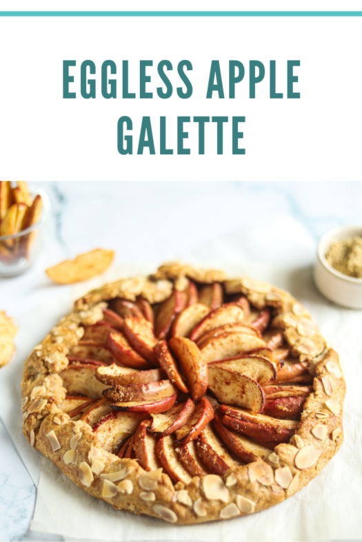 pinterest pin - apple galette recipe vegan