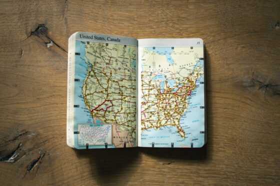staycation or travel map