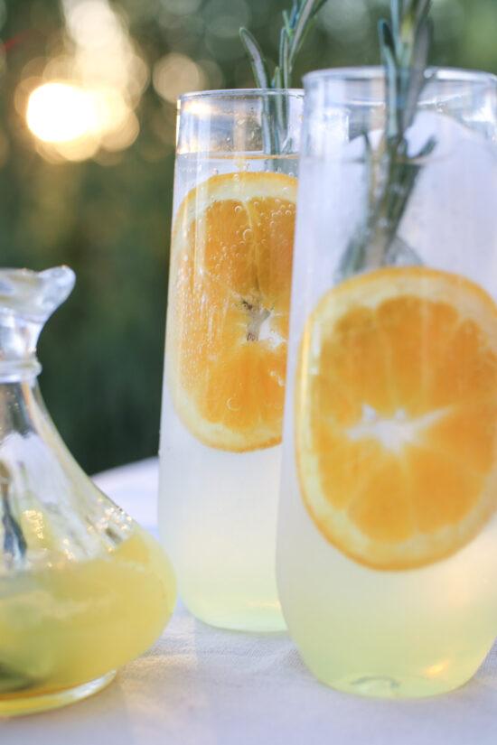 backyard bliss rosemary citrus spritzer