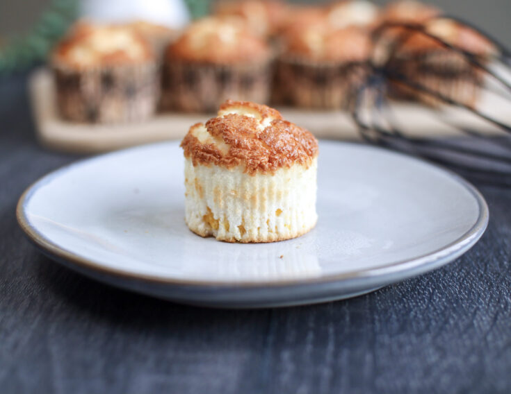 Peach Angel Food Cupcakes