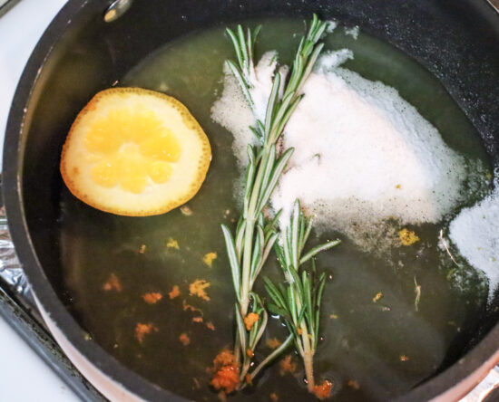 simple syrup rosemary citrus spritzer