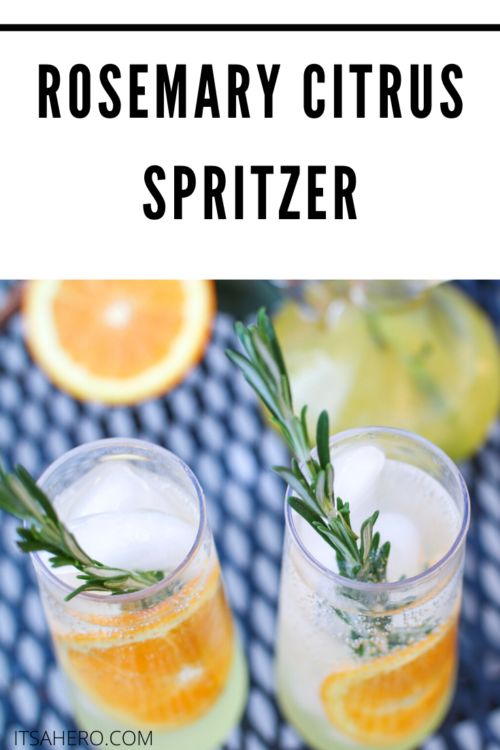 PIN ME - Rosemary Citrus Spritzer