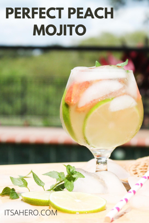 PIN ME - Perfect Peach Mojito Recipe