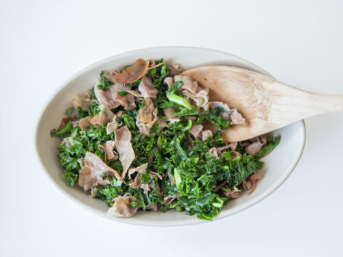sauteed kale and prosciutto