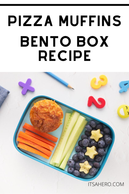 PIN ME - Kid Friendly Pizza Muffins Recipe -- Perfect for bento box lunches