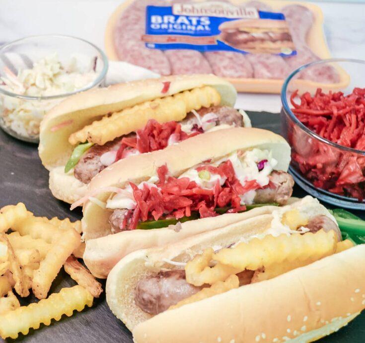 Cleveland Bratsgiving Polish Boy Sandwich