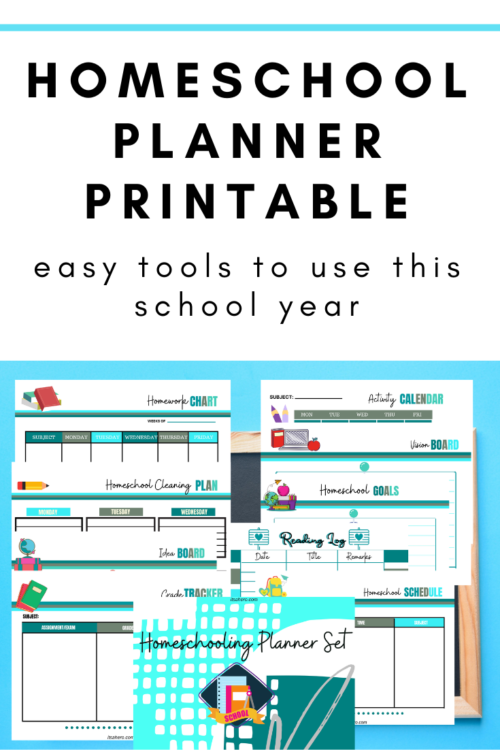 PIN FOR LATER - Homeschool Planner Printable