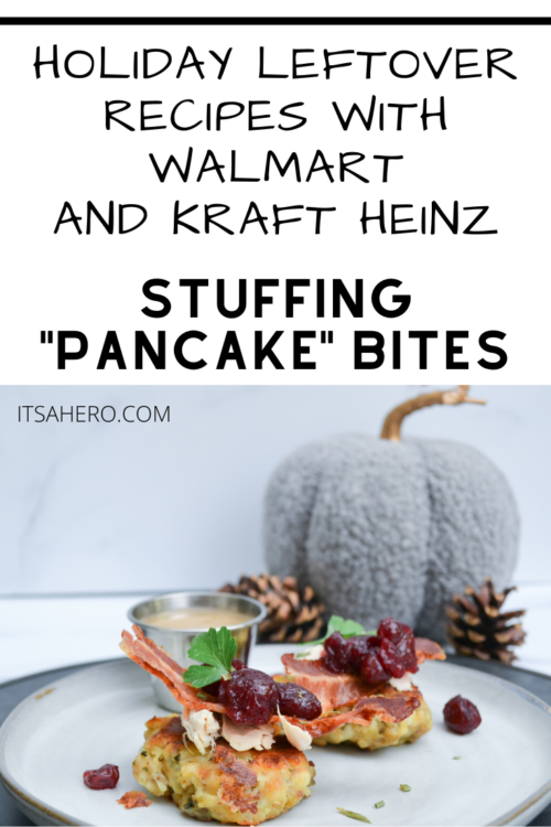"PIN FOR LATER - LEFTOVER STUFFING ""PANCAKE"" BITES RECIPE"