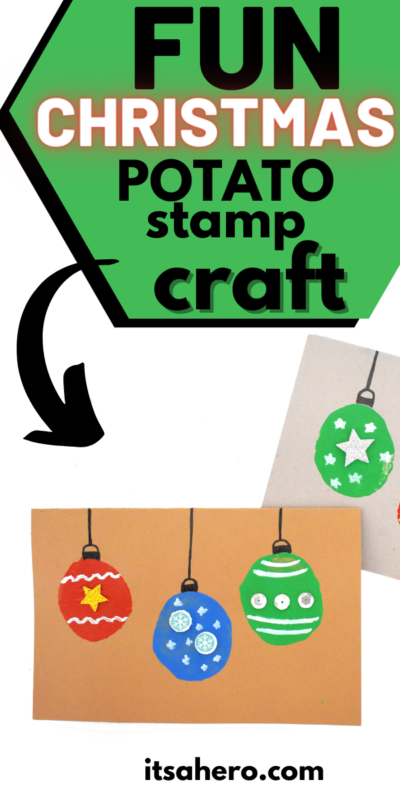 PIN ME - Fun Christmas Potato Stamp Card Craft for Kids