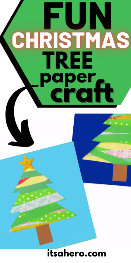 PIN FOR LATER - Fun Christmas Tree Paper Craft for Kids