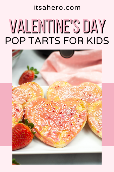 Need an easy and delicious treat to make Valentine's Day special for your kids? Air Fryer Valentine's Day Strawberry Pop Tarts are THE best!