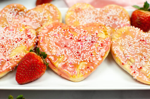 Air Fryer Valentine's Day Strawberry Pop Tarts