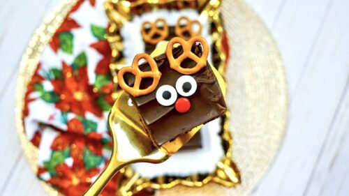Last Minute Easy Rudolph Brownies