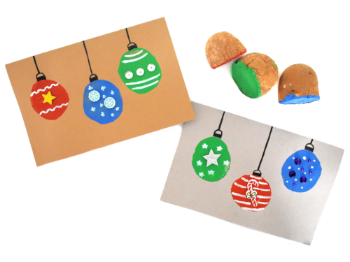 Potato Stamp Christmas Ornament Craft