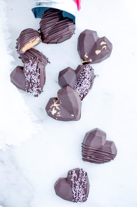 Heart Shaped Peanut Butter Cups