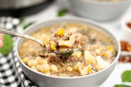Instant Pot Sausage & Spinach Soup