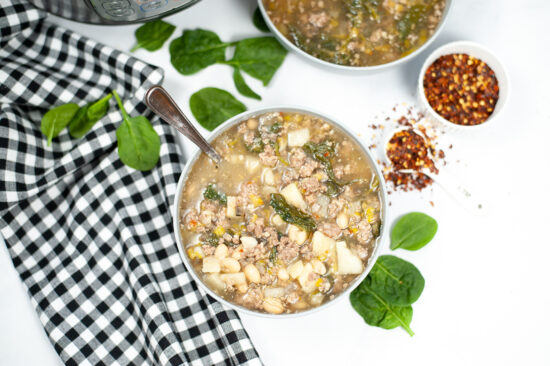 Instant Pot Sausage & Spinach Soup