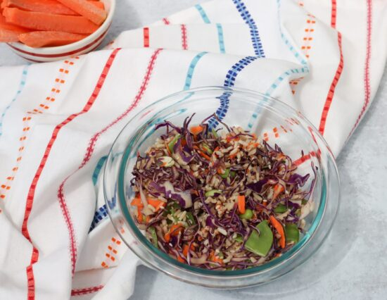 Diced + Easy Red Cabbage and Rice