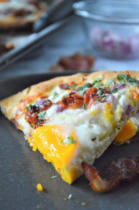 Breakfast Naan Pizza Recipe