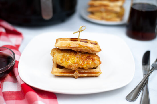 Air Fryer Chicken and Waffle Sandwiches