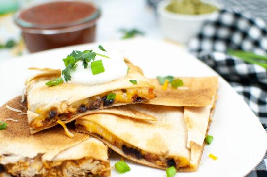 Easy Sheet Pan Chicken Quesadillas